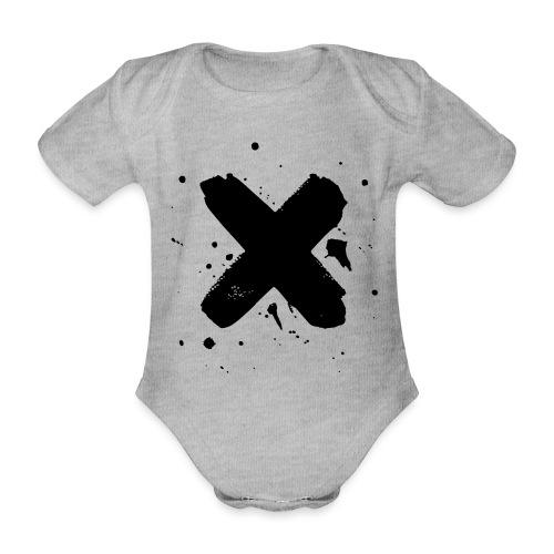 X musta - Vauvan lyhythihainen luomu-body