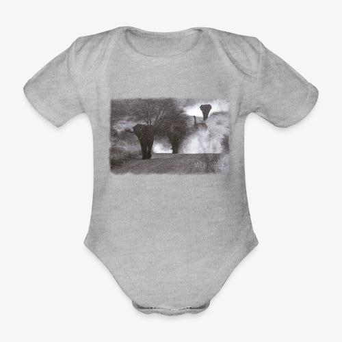 Elephants - Wild & Free - Baby Bio-Kurzarm-Body