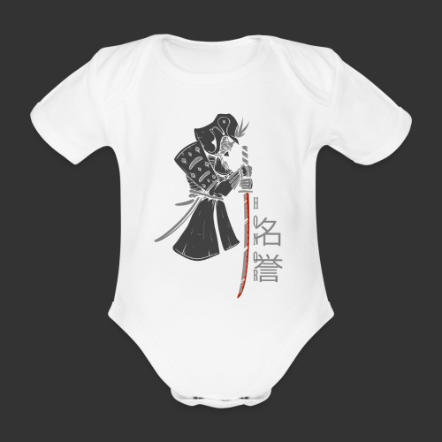 Samurai Digital Print - Organic Short-sleeved Baby Bodysuit