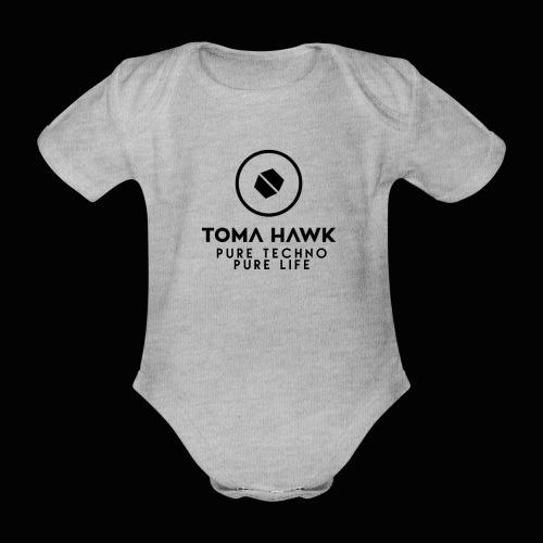 Toma Hawk - Pure Techno - Pure Life Black - Baby Bio-Kurzarm-Body
