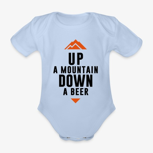 UP Mountain Down Beer - Body Bébé bio manches courtes