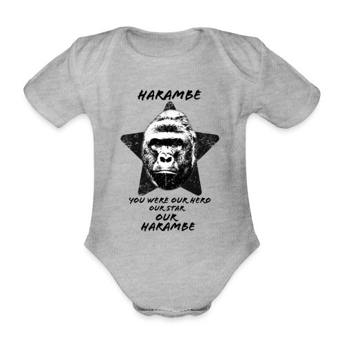 Harambe - Kortærmet babybody, økologisk bomuld