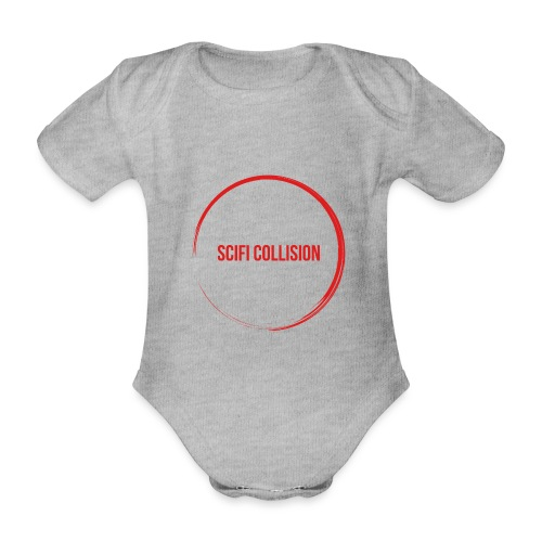 Red Logo - Organic Short-sleeved Baby Bodysuit