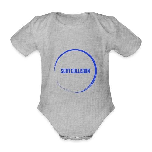 Dark Blue Logo - Organic Short-sleeved Baby Bodysuit
