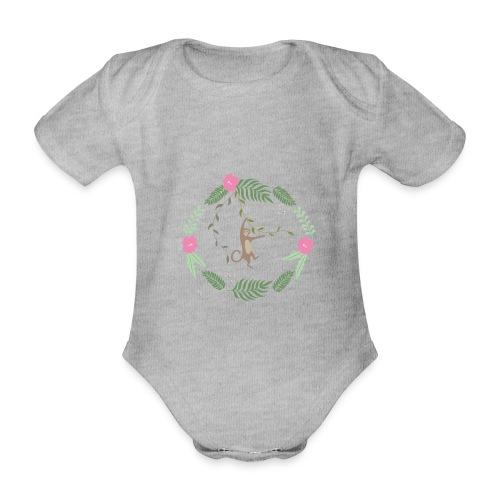Mikey monkey - Body ecologico per neonato a manica corta