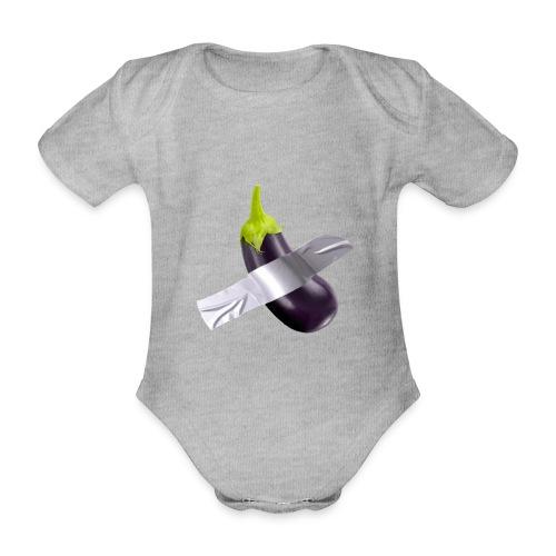 Eggplant art - Body ecologico per neonato a manica corta