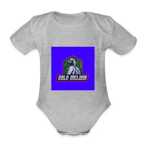 Guld Melwin - Ekologisk kortärmad babybody