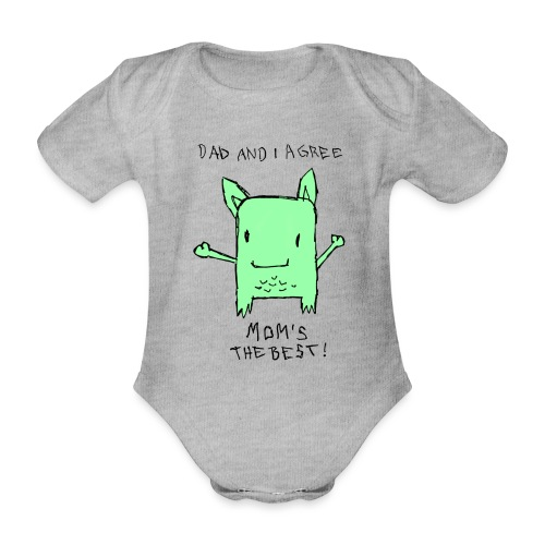 Little Monster - Baby Bio-Kurzarm-Body
