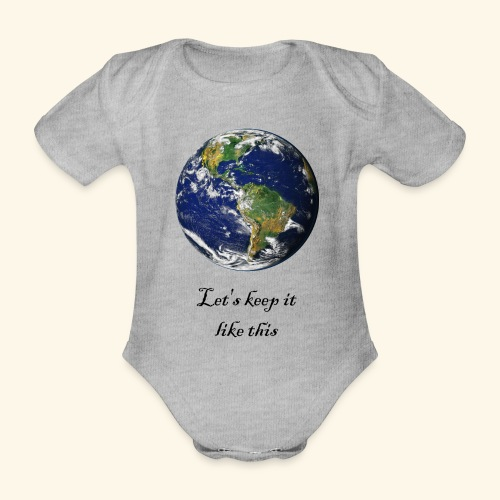 clean Planet - Organic Short-sleeved Baby Bodysuit