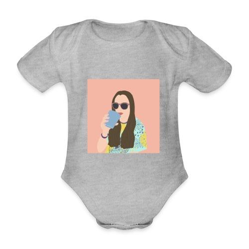 Gaia - Body ecologico per neonato a manica corta