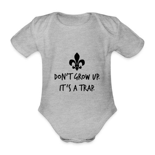 Don't grow up… Handschrift Lilie - Farbe wählbar - Baby Bio-Kurzarm-Body