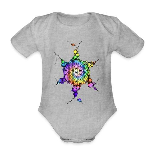 Flower Of Life Neuro Art 3 - Baby Bio-Kurzarm-Body