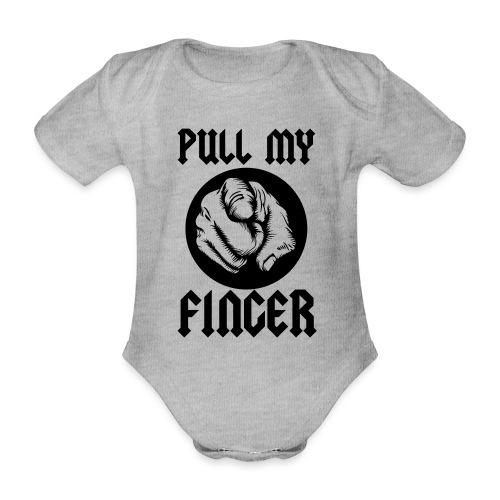 Pull My Finger - Organic Short-sleeved Baby Bodysuit