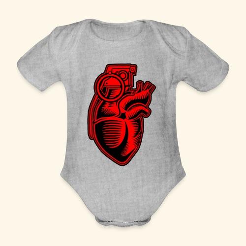 Grenade Heart - Baby Bio-Kurzarm-Body