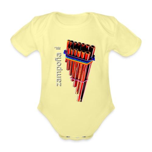Zampoña - Body orgánico de maga corta para bebé