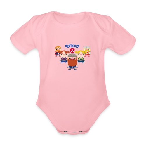Viking Friends - Organic Short-sleeved Baby Bodysuit