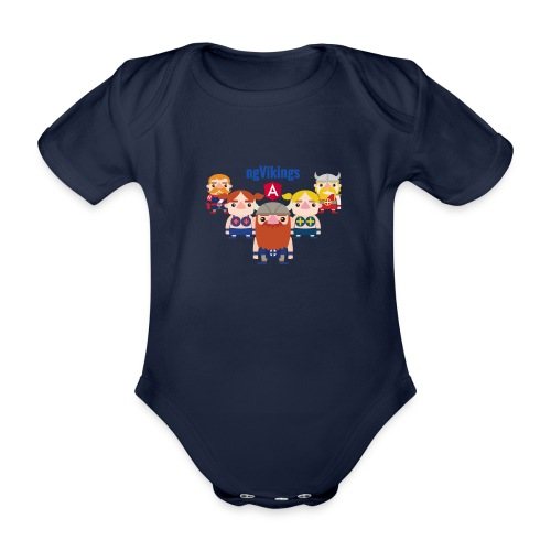 Viking Friends - Organic Short-sleeved Baby Bodysuit