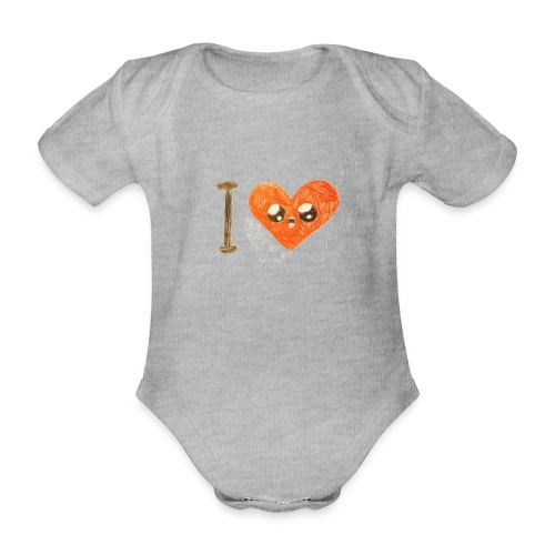 Kids for Kids: heart - Baby Bio-Kurzarm-Body