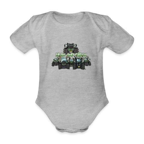 MeanAndGreen6F - Baby bio-rompertje met korte mouwen