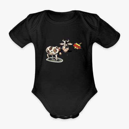 Vaquita - Body orgánico de maga corta para bebé