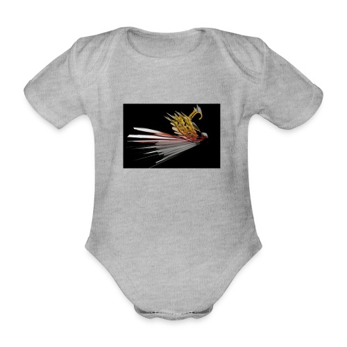 Abstract Bird - Organic Short-sleeved Baby Bodysuit