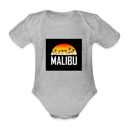 Malibu Nights - Organic Short-sleeved Baby Bodysuit