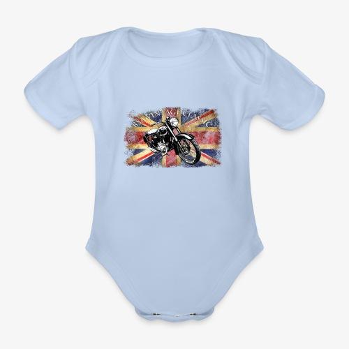 Vintage famous Brittish BSA motorcycle icon - Organic Short-sleeved Baby Bodysuit