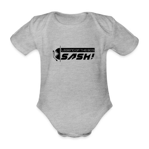 DJ SASH! Turntable 2020 Logo - Organic Short-sleeved Baby Bodysuit