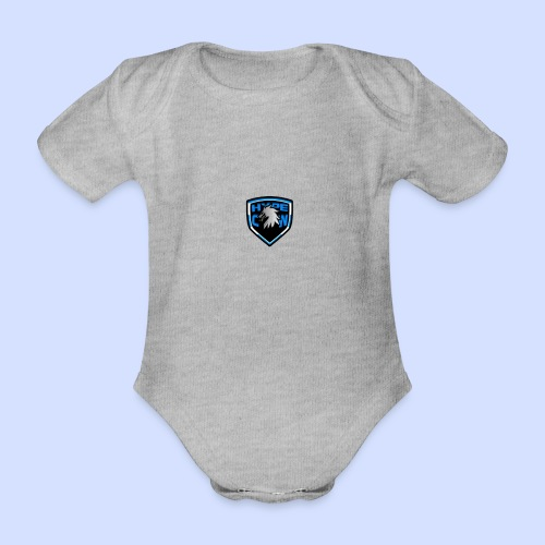 HypeCw logo (Silver) - Organic Short-sleeved Baby Bodysuit