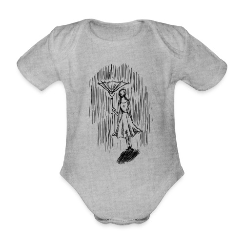 Umbrella - Organic Short-sleeved Baby Bodysuit