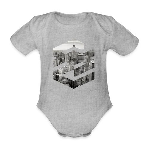 NewYork Manhatten EmpireState Geometische Form - Baby Bio-Kurzarm-Body