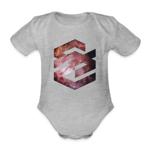 Geometische Galaxie Form - Baby Bio-Kurzarm-Body
