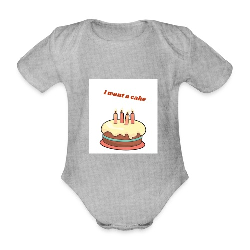 I want a cake - Ekologisk kortärmad babybody