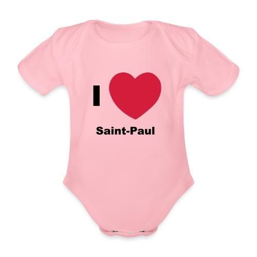 i love sainte paul - Body Bébé bio manches courtes