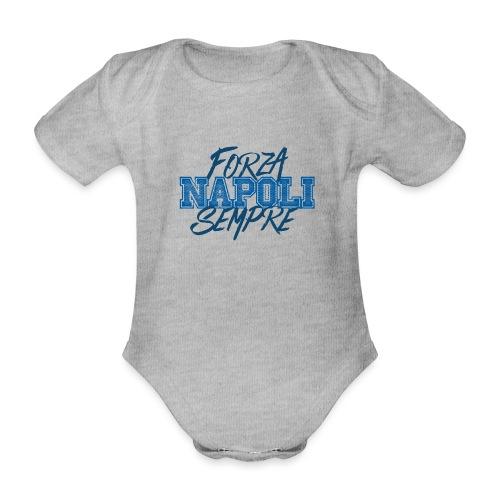 Forza Napoli Sempre - Body ecologico per neonato a manica corta