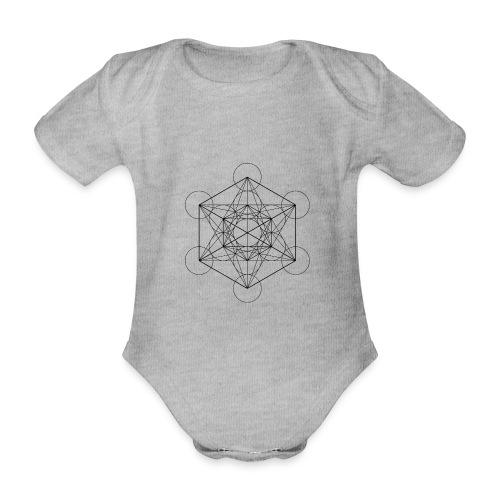 Metatrones Cube - Kortærmet babybody, økologisk bomuld