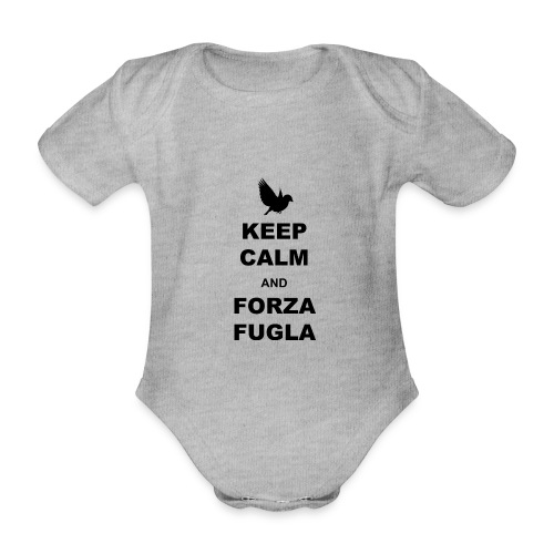 keep calm Fugla - Organic Short-sleeved Baby Bodysuit