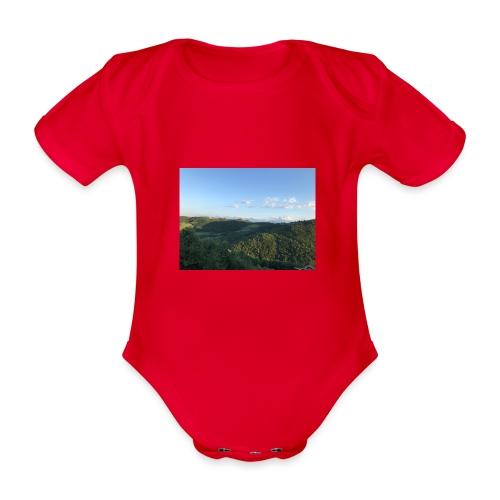 paesaggio - Body ecologico per neonato a manica corta