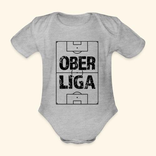 OBERLIGA im Fußballfeld - Baby Bio-Kurzarm-Body