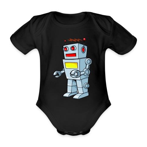 Robot - Body ecologico per neonato a manica corta