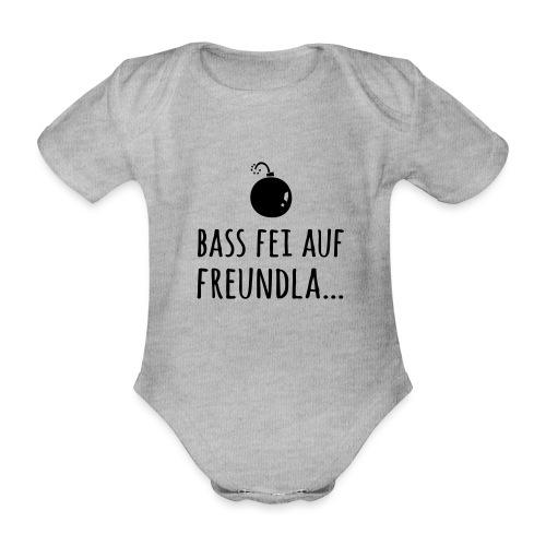 Bass fei auf Freundla - Baby Bio-Kurzarm-Body