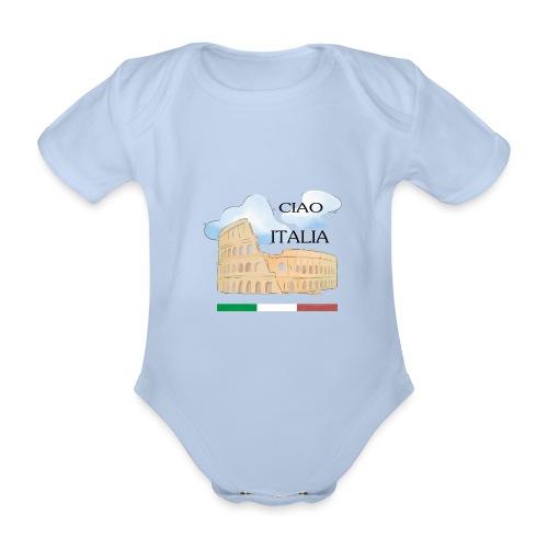 hello italy T-Shirts - Organic Short-sleeved Baby Bodysuit