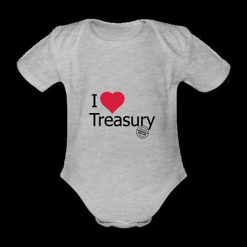 I LOVE TREASURY - Organic Short-sleeved Baby Bodysuit