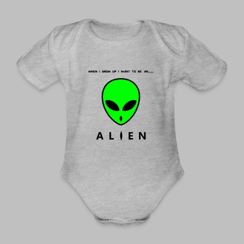 Alien - Organic Short-sleeved Baby Bodysuit
