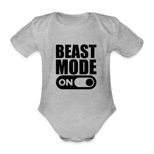 BEAST MODE ON - Organic Short-sleeved Baby Bodysuit