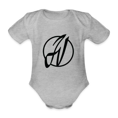 JV Guitars - logo noir - Body bébé bio manches courtes