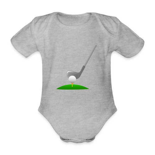 Golf Ball PNG - Body orgánico de maga corta para bebé
