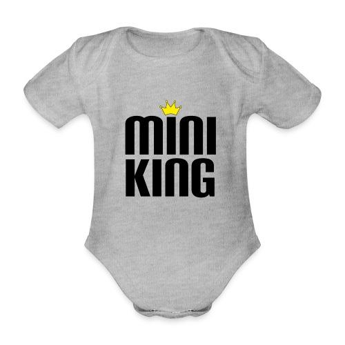 MiniKing Baby Kleinkind Geschenk - Baby Bio-Kurzarm-Body