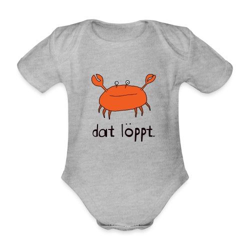 Ostfriesland FUN Shirt - Dat Löppt Strandkrabbe - Baby Bio-Kurzarm-Body