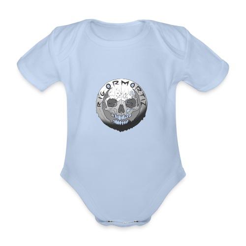 Rigormortiz Black and White Design - Organic Short-sleeved Baby Bodysuit